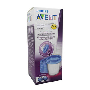 AVENT RECIP VIA LECHE MATERN 180ML 5 VAS